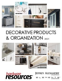 Cover of the Decorative Hardware & Organization Catalog by Hardware Resources.