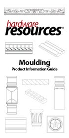 Cover of the Moulding Product Information Guide by Hardware Resources.