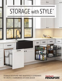 Cover of the Organizers Storage With Style Brochure by Hardware Resources.
