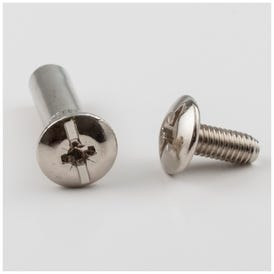 2 Piece Nickel Plated Connector Bolt for 8 mm Drilling and 31 mm - 41 mm Panel Thickness - Priced and Sold by the Thousand