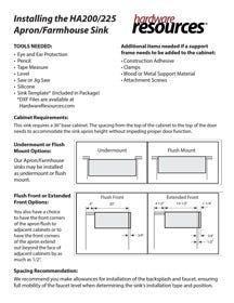 Farmhouse Sink Installation Instructions